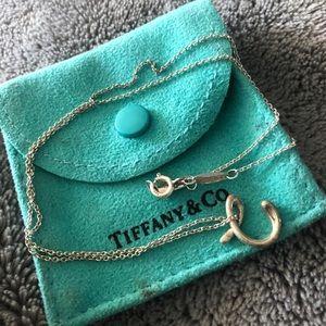 Tiffany letter C pendant
